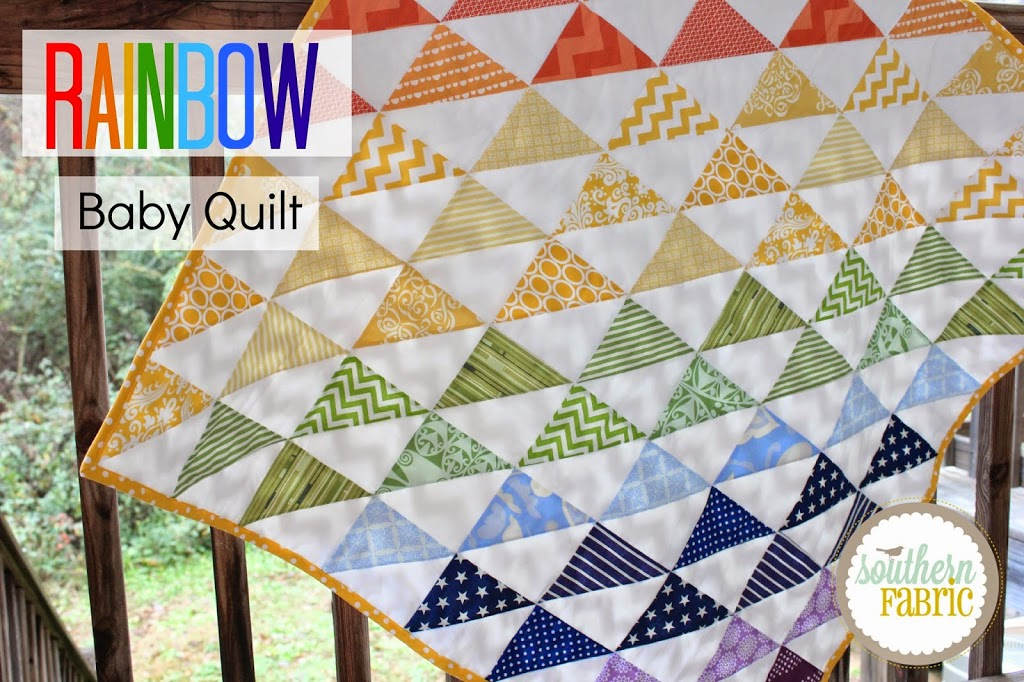 Rainbow baby quilt top tutorial for beginners southern