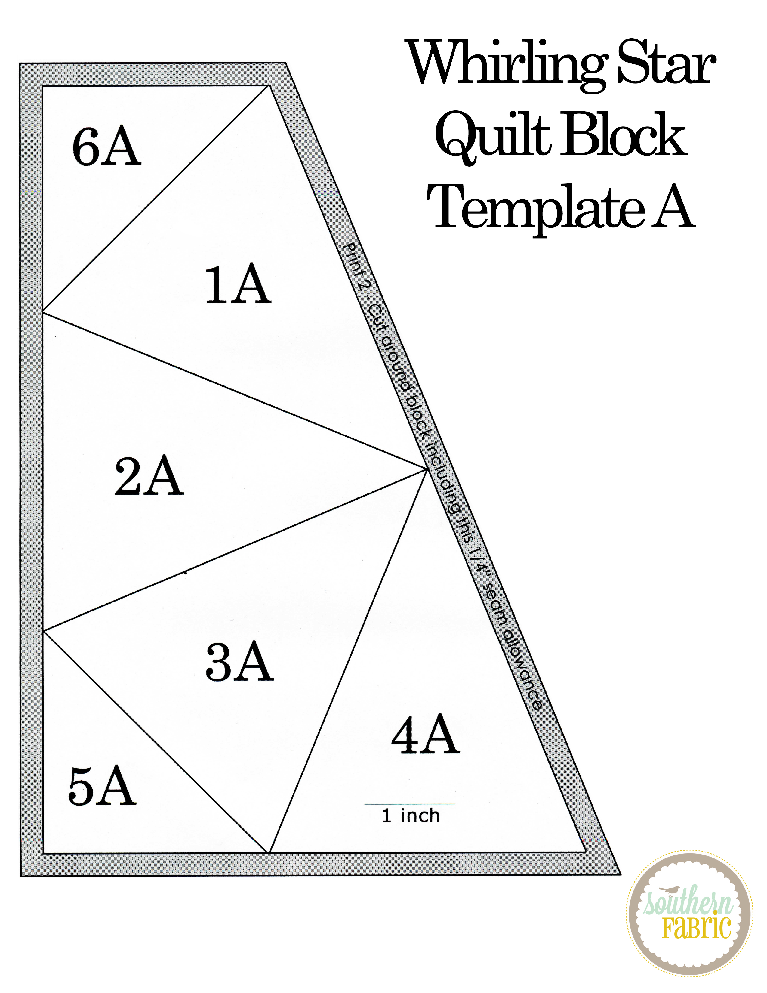 Whirling Star Quilt Block Tutorial Southern Fabricsouthern Fabric