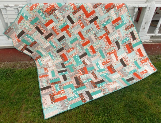 Free Quilt Patterns Using Jelly Roll Strips : Jelly Roll Rail Fence Free Quilt Pattern Southern Fabric Bloglovin