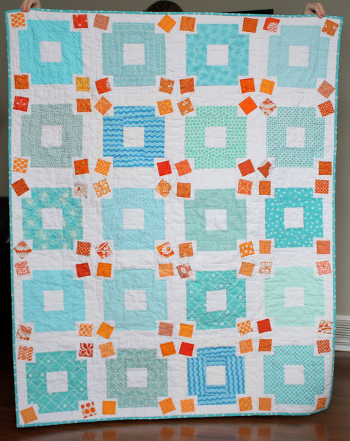 finished jumble quilt